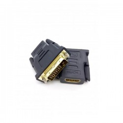 Adaptor HDMI 19pin F σε DVI-D 24+1 M golden Well ADAPT-HDMIF/DVIM-GD-WL
